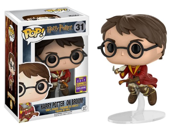 Funko Pop Harry Potter On Broom Vassoura Sdcc Exclusivo #31