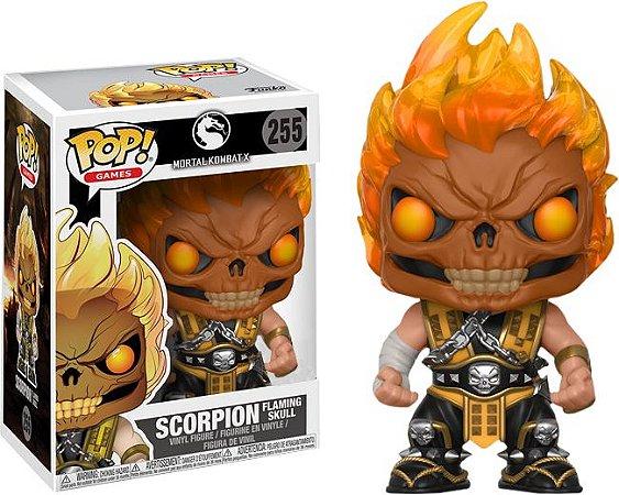 Funko Pop Mortal Kombat XL Scorpion Flaming Skull Exclusivo #255