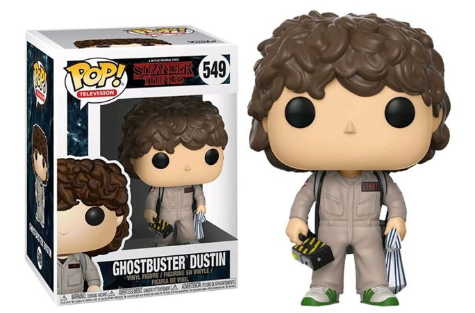 EM BREVE! Funko Pop Stranger Things Ghostbuster Dustin #549