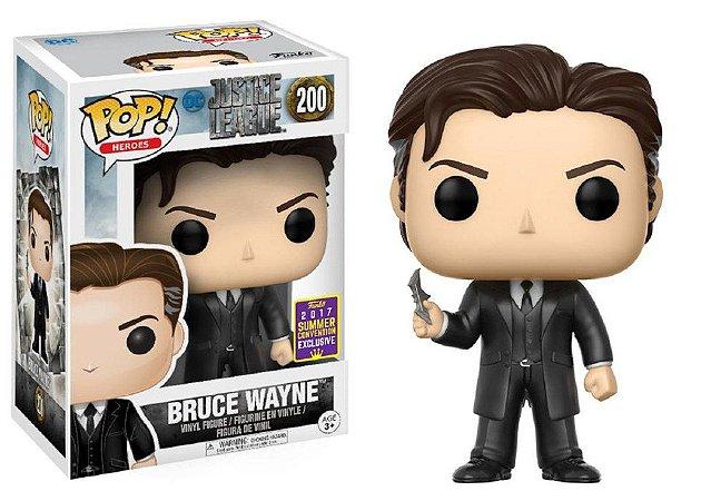 Funko Pop DC Liga da Justiça Bruce Wayne Exclusivo SDCC #200