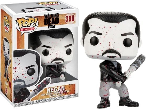 Funko Pop The Walking Dead Negan Blood Splatter Black White #390
