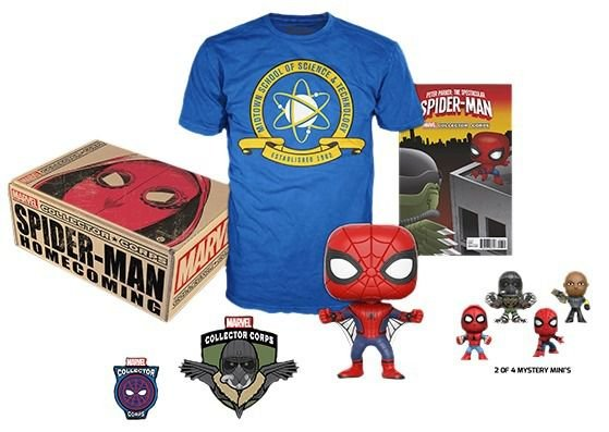 Funko Box Marvel Collector Corps Spiderman Homecoming