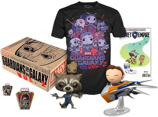 Funko Box Marvel Guardiões Da Galaxia Vol 2 Collector Corps