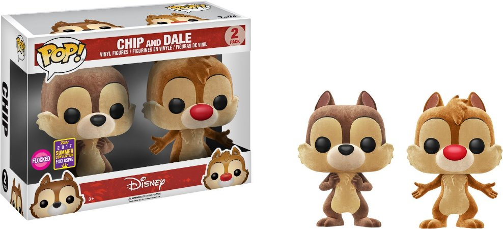Funko Pop Disney Chip and Dale 2-Pack Exclusivo SDCC