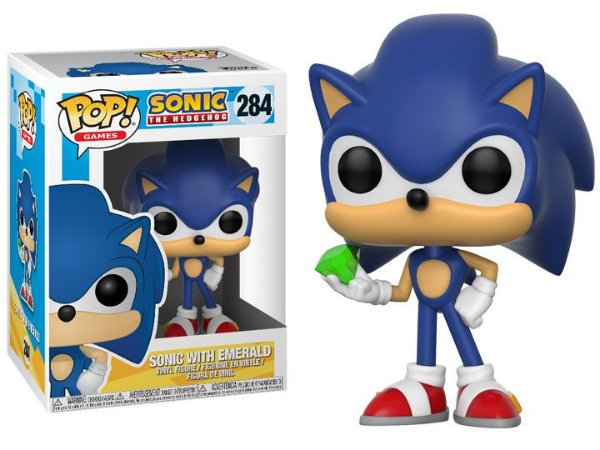 Funko Pop Sonic The Hedgehog - Sonic with Emerald #284