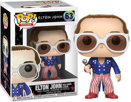 Funko Pop Elton John Red White and Blue #63