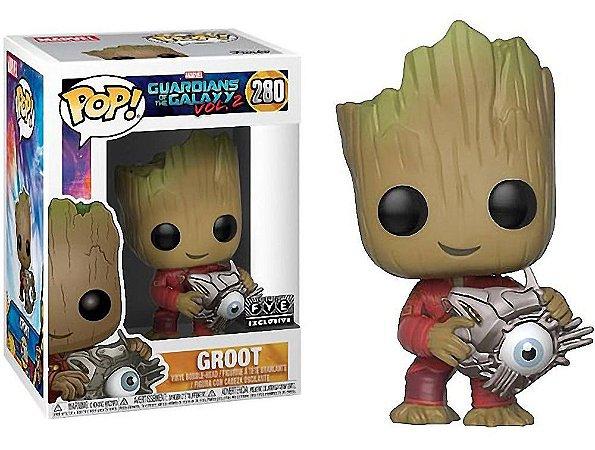 Funko Pop Marvel Guardiões da Galáxia Vol 2 Groot Cyber Eyes Exclusivo #280