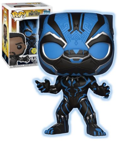 Funko Pop Marvel Pantera Negra Black Panther Glows Exclusivo #273