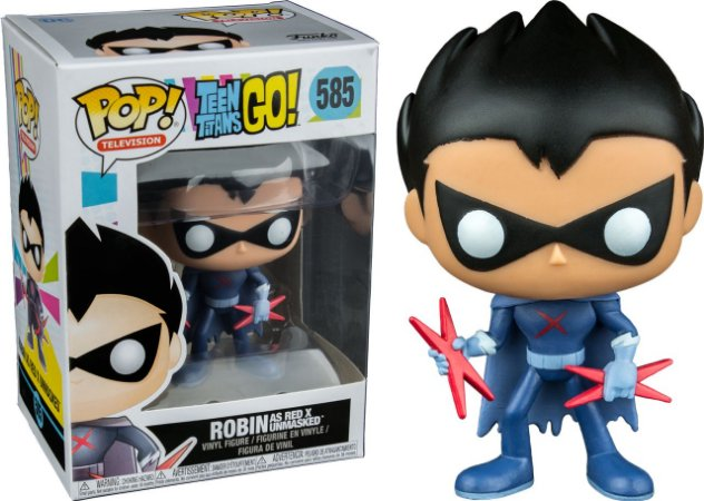 Funko Pop Teen Titans Go Robin as Red X Unmasked Exclusivo #585