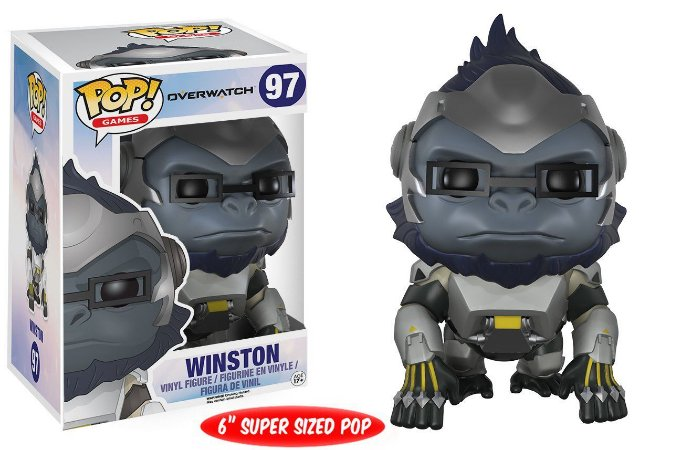 Funko Pop Overwatch Winston Super Size #97