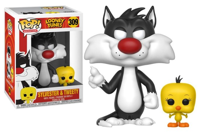 Funko Pop Looney Tunes Piu Piu e Frajola Sylvester and Tweenty #309
