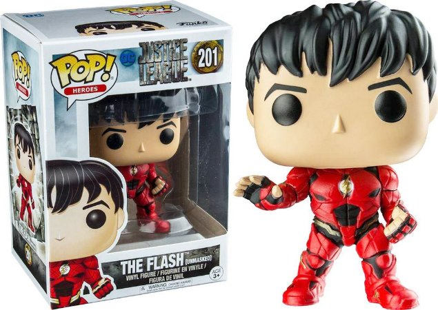 Funko Pop DC Liga a Justiça The Flash Exclusivo #201
