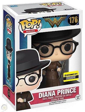 Funko Pop DC Mulher Maravilha Diana Prince Exclusiva Entertainment Earth #176