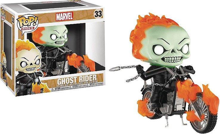Funko Pop Rides Marvel Ghost Rider Exclusivo Glows #33