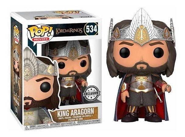 Funko Pop Senhor dos Anéis  King Aragorn Exclusivo #534