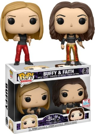 Funko Pop Buffy A Caça Vampiros Buffy E Faith Exclusivo Nycc
