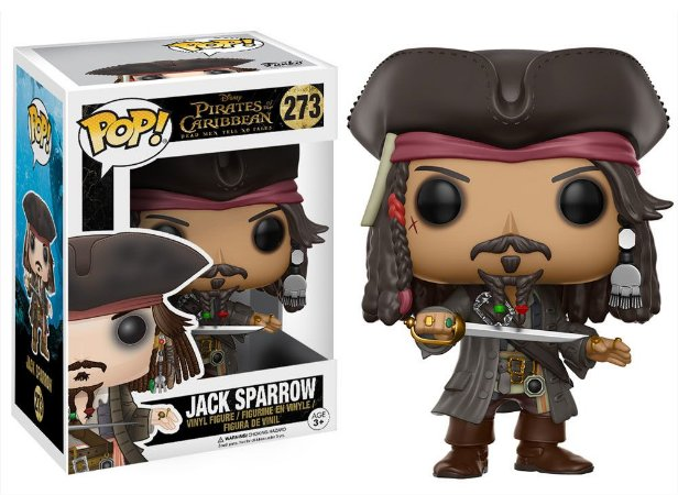 Funko Pop Disney Piratas do Caribe Jack Sparrow #273