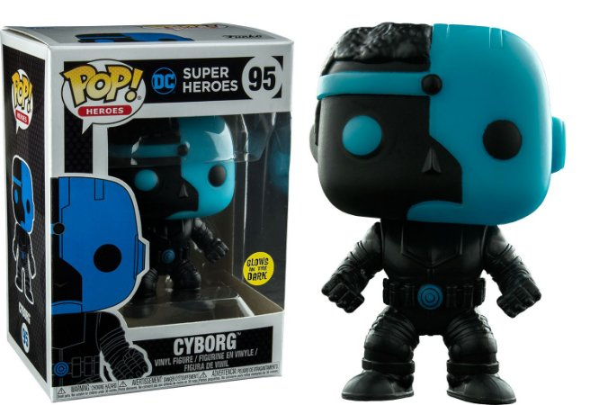 Funko Pop Dc Super Heroes Cyborg Silhouette Glow Exclusivo#95