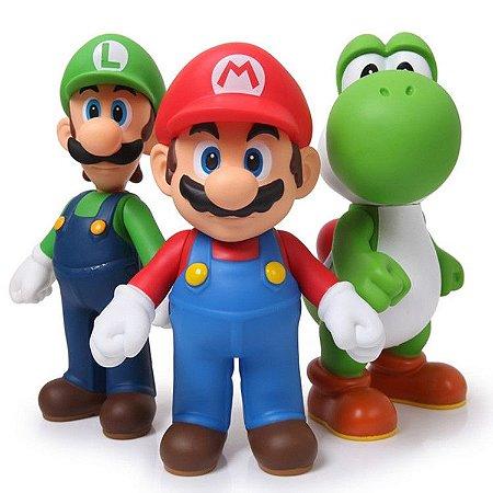 Super Mario Bros Luigi Yoshi Kit 3 Bonecos