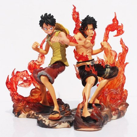 One Piece Luffy e Ace Brotherhood Kit 2 Figuras