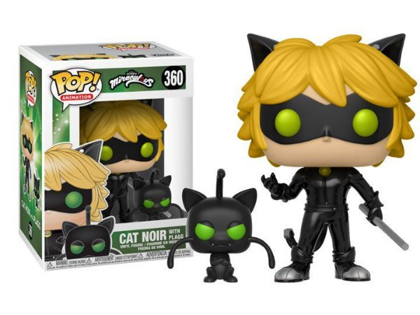 Funko Pop Miraculous Cat Noir E Plagg #360