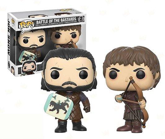 Funko Pop Game of Thrones Battle of The Bastards Jon Snow e Ramsay Bolton