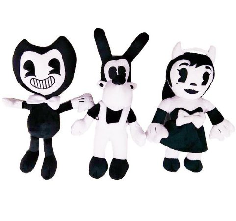 Pelúcias Bendy + Boris + Alice Bendy And The Ink Machines Set 3 Pçs