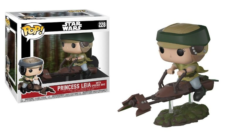 Funko Pop Star Wars Princesa Leia With Speeder Bike #228