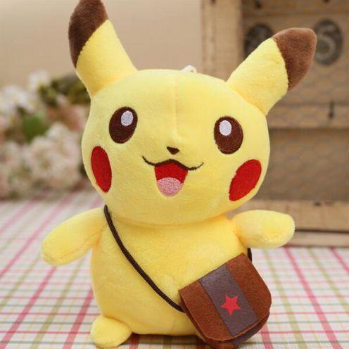 Pelúcia Pokémon Pikachu Bolsa 20cm