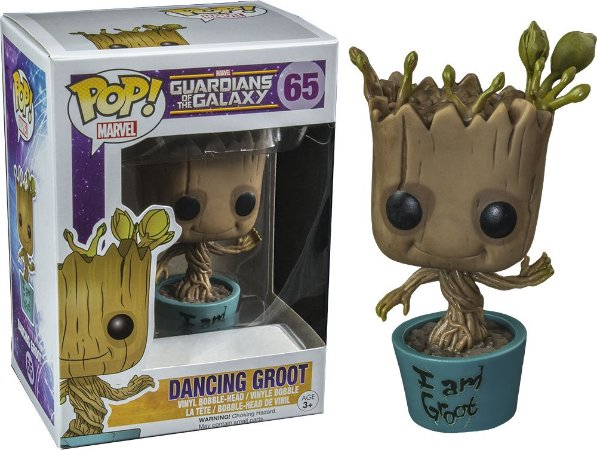 Funko Pop Marvel Guardiões da Galaxia Dancing Groot Exclusivo #65