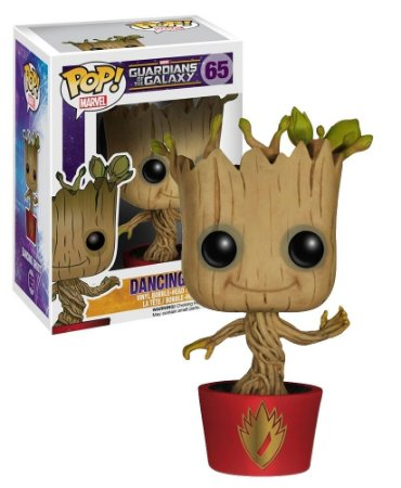 Funko Pop Marvel Guardiões da Galaxia Vol 1 Dancing Groot Exclusivo #65