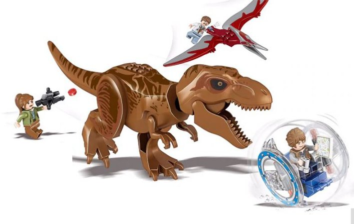 Bloco de Montar Set Jurassic World T-Rex