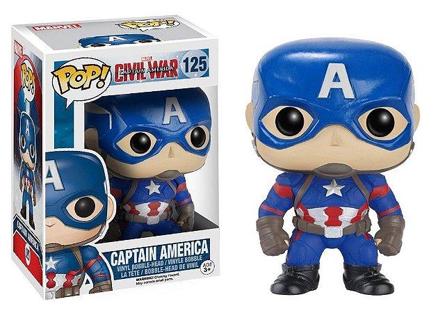 Funko Pop Marvel Civil War Capitão América #125