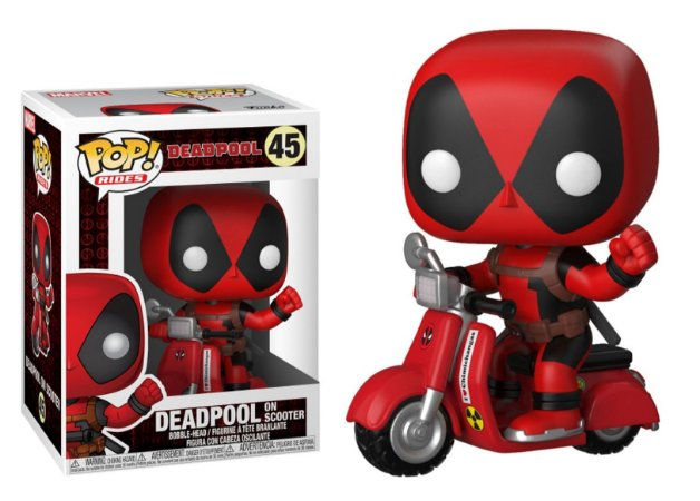 Funko Pop Rides Deadpool On Scooter Marvel #45