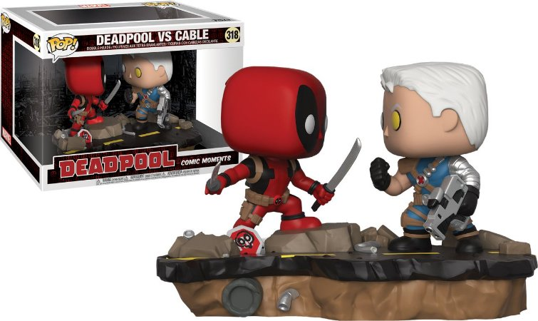 Funko Pop Marvel Comic Moments Deadpool vs Cable #318