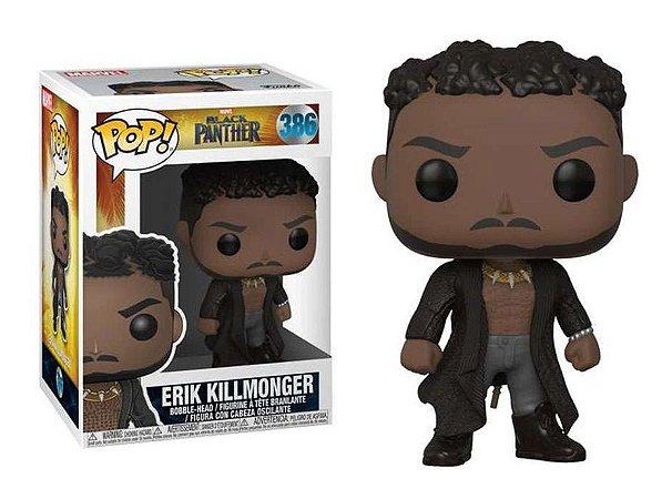 Funko Pop Marvel Pantera Negra Black Panther Eric Killmonger #386