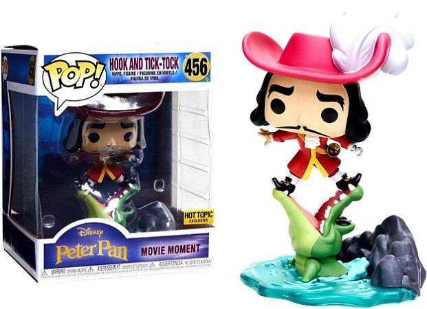 Funko Pop Disney Peter Pan Movie Moments Hook and Tick-Tock Exclusivo #456