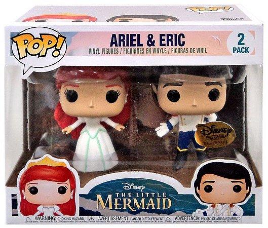 Funko Pop Disney Pequena Sereia Ariel e Eric Pack Exclusivo Disney Treasures