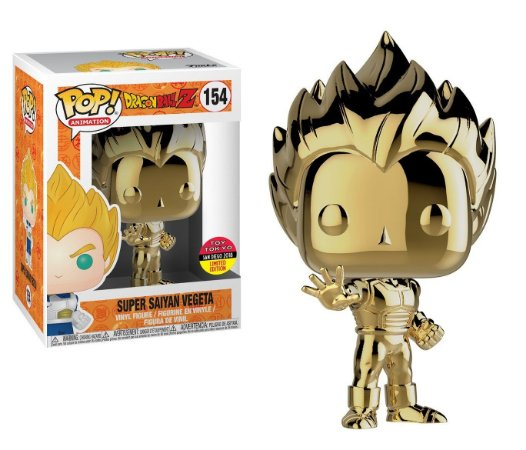 Funko Pop Dragon Ball Z Super Saiyan Vegeta Metálico Exclusivo Toy Tokyo #154
