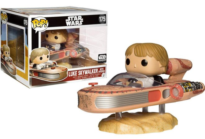 Funko Pop Star Wars Luke Skywalker With Speeder Exclusivo Smugglers Bounty #175