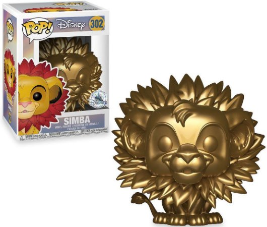 Funko Pop Disney Simba Metálico Exclusivo #302