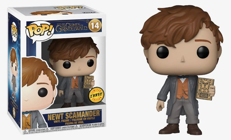 Funko Pop Animais Fantásticos 2 Fantastic Beasts Newt Scamander Chase #14