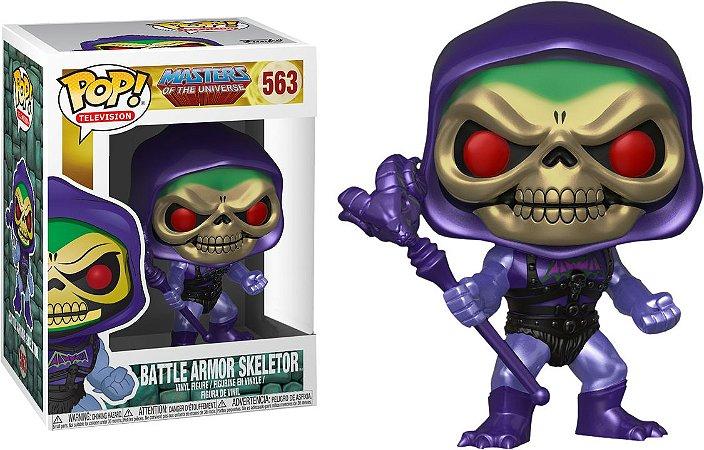 Funko Pop Masters of Universe Battle Armor Skeletor Metálico Exclusivo #363