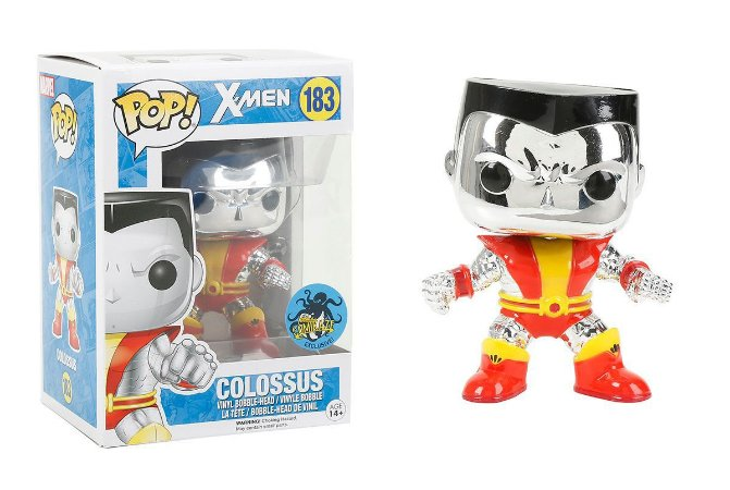 Funko Pop Marvel X-Men Colossus Cromado Exclusivo #183