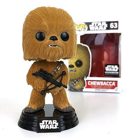 Funko Pop Star Wars Chewbacca Flocked Exclusivo Smugglers Bounty #63