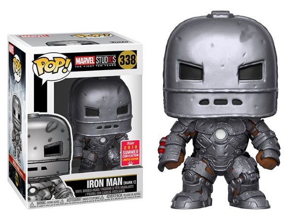Funko Pop Marvel Studios 10 Years - Iron Man Mark 1 Exclusivo SDCC18 #338