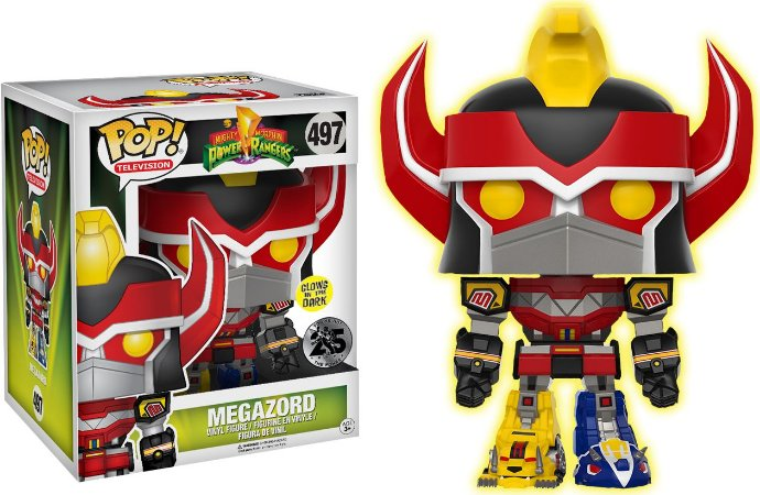 "Funko Pop Power Rangers Megazord 6"" Glows Exclusivo EE #497"