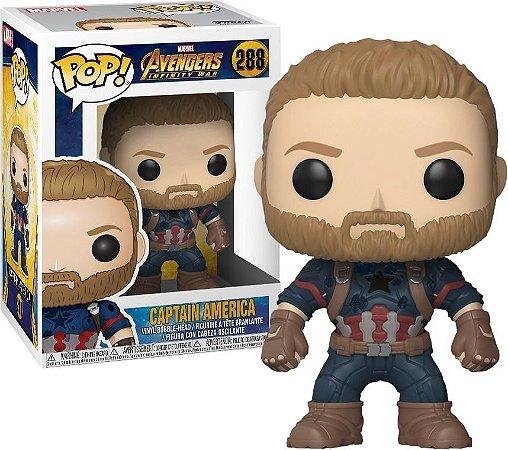 Funko Pop Marvel Avengers Infinity War Capitão América #288