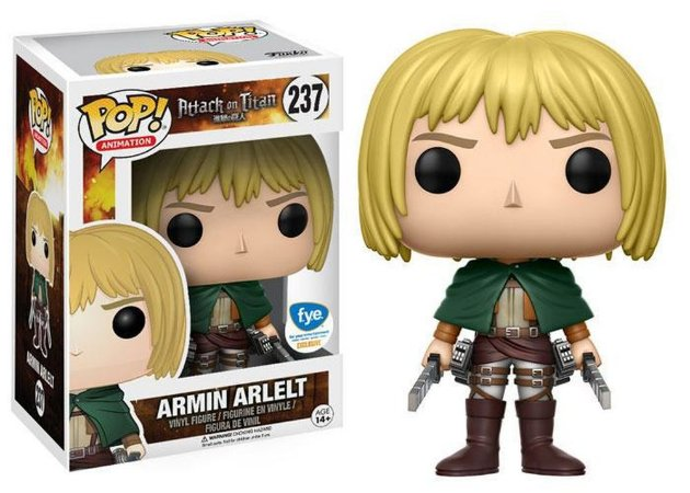 Funko Pop Attack On Titan Armin Arlet Exclusiva #237