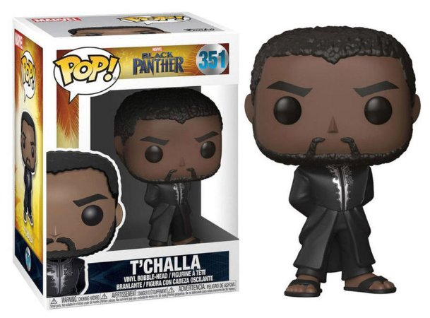Funko Pop Marvel Pantera Negra Black Phanter T'Challa #351